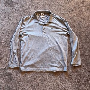 Lacoste Long Sleeve Polo Shirt Grey